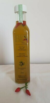 Olive Oil with Chili (Bottle) - BioTerre