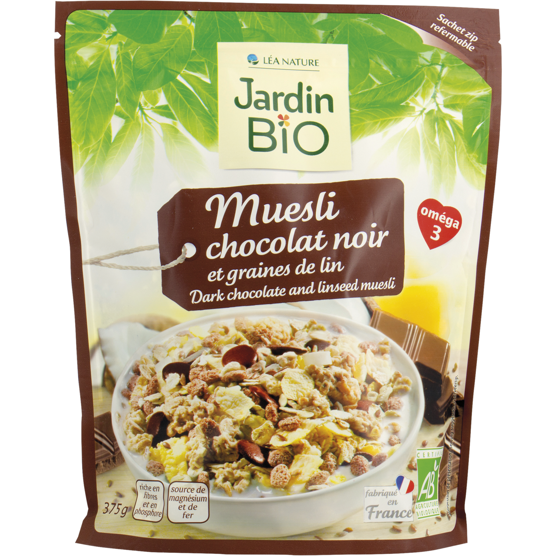 Muesli Chocolat Noir & Lin Bio (Bag) - Jardin Bio