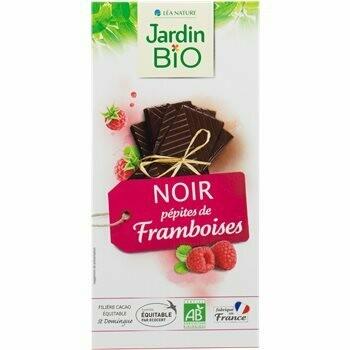 Chocolat Noir Framboise شوكولاتة التوت الداكنة (Bar) - Jardin Bio