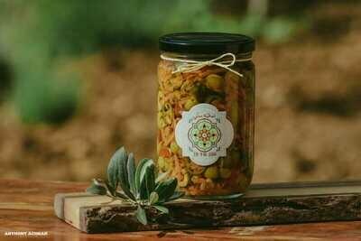 Olive Salad Mix سلطة زيتون مشكلة (Jar) - Namliyet Setti