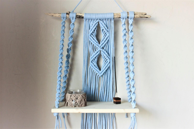 Shelf Floating Blue (Piece) - The Van Macrame