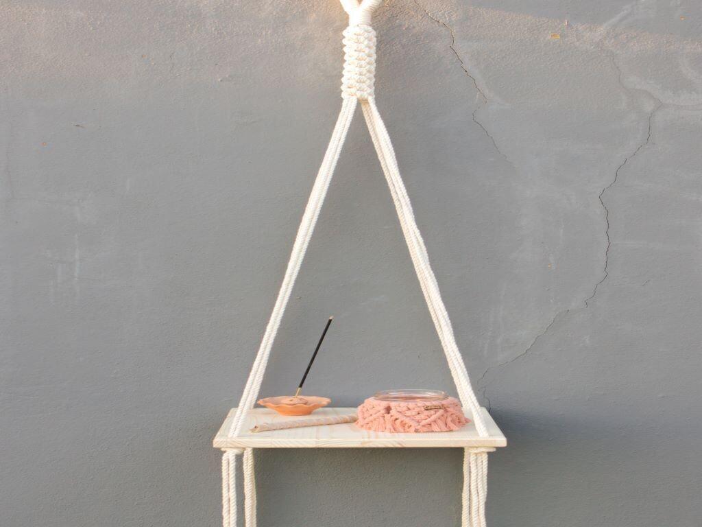 Shelf Floating Beige (Piece) - The Van Macrame