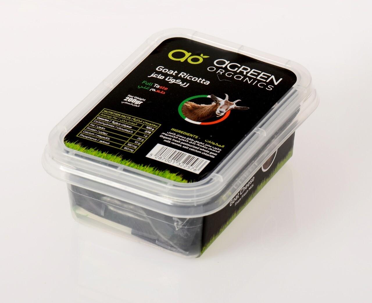 Goat Ricotta Organic الماعز ريكوتا (Pack) - Agreen Organics
