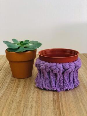 Macrame Cover Pot Lilas (Piece) - Spot the Knot