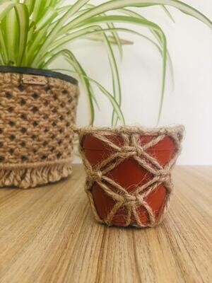 Macrame Cover Pot Jute I (Piece) - Spot the Knot
