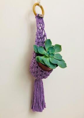 Macrame Hanger Pod Lilas (Piece) - Spot the Knot