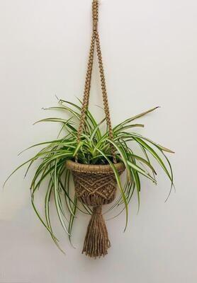 Macrame Hanger Basket Jute (Piece) - Spot the Knot