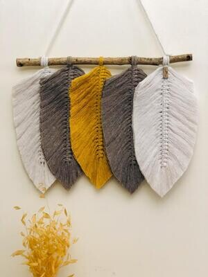 Macrame Wall Leaves (Piece) - Spot the Knot