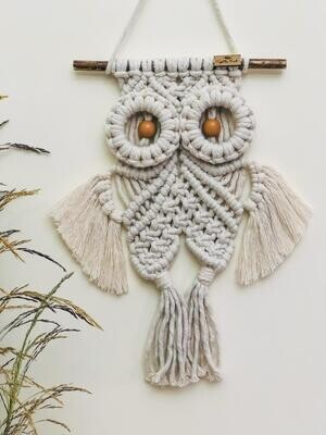 Macrame Wall Owl (Piece) - Spot the Knot