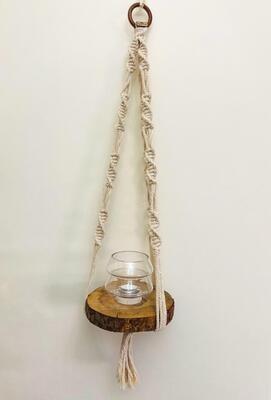 Macrame Hanger Shelf (Piece) - Spot the Knot