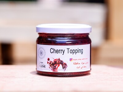 Cherry Topping Jam (Jar) - From Rima with Love