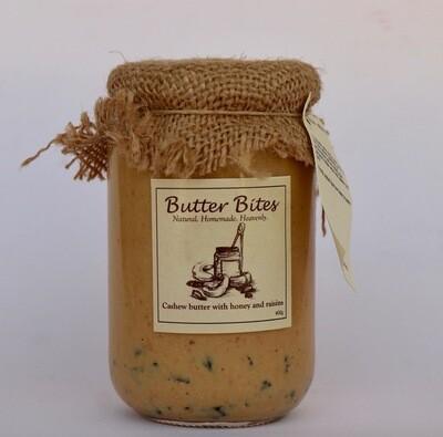 Cashew Butter with Honey and Raisins (Jar) - Butter Bites
