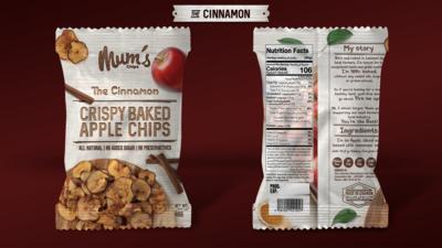 Apple Chips Cinnamon (Bag) - Mum's Chips