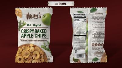 Apple Chips Thyme (Bag) - Mum's Chips