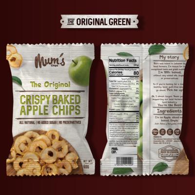 Apple Chips Original Green (Bag) - Mum's Chips