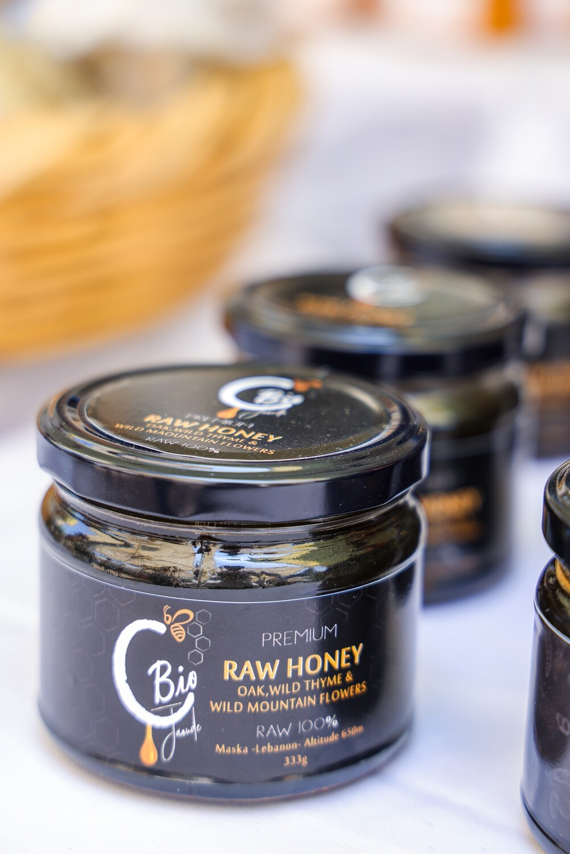 Honey Raw (Jar) - C. Bio Jaoude
