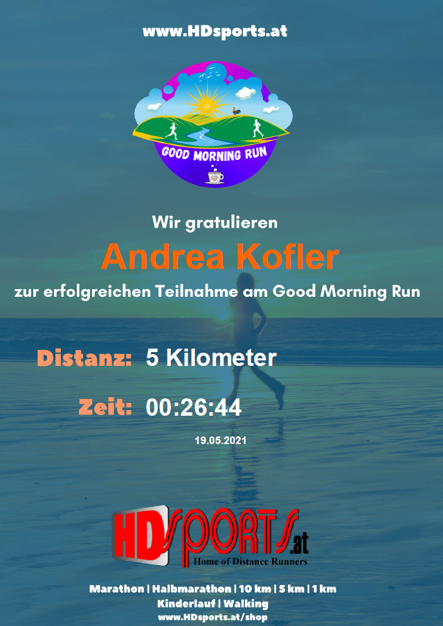 Good Morning Run (inkl. Medaille)