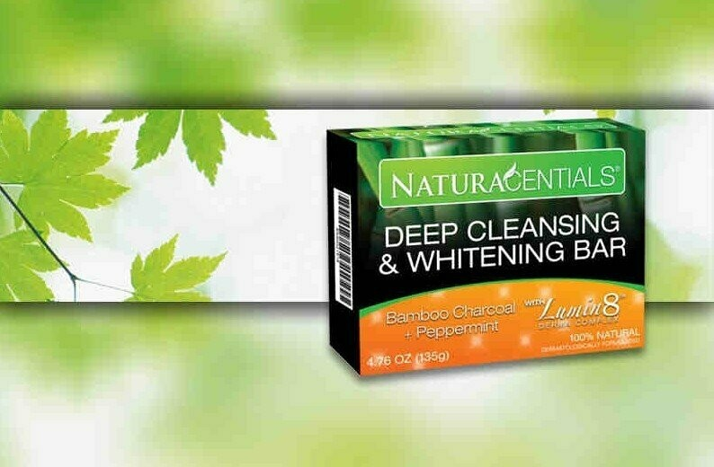 Naturacential Deep Cleansing & Whitening Bar-Bamboo Charcoal.100% Natural