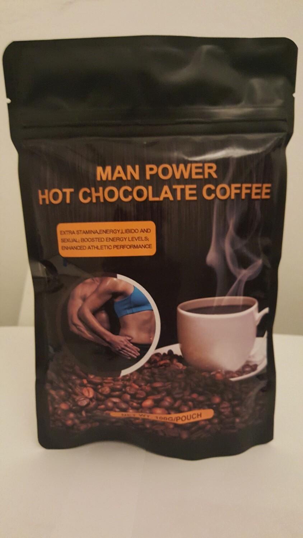 Man Power Hot Chocolate Coffee 5  X 20g Sachets
