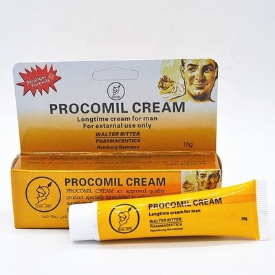 Procomil Delay Cream for Men. 15g X 100% Herbal