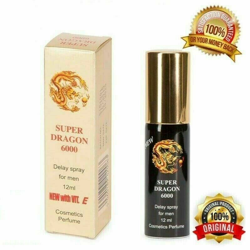 Super Dragon 6000 Ejaculation Delay Spray for Men with Vitamin E- 12ml