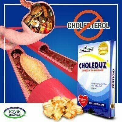 Choleduz Omega Supreme. 30 softgels per box