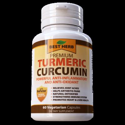TURMERIC 95% CURCUMIN EXTRACT BLACK PEPPER  (BioPerine)  CAPSULES