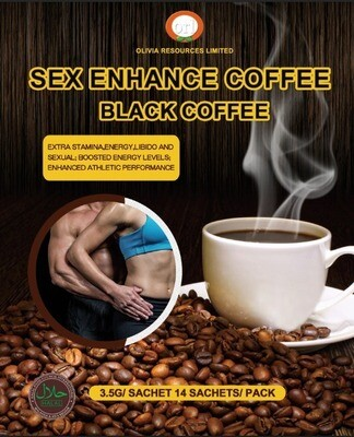 Sex Enhancement Black Coffee 3.5g sachets / pack- Net WT.49g