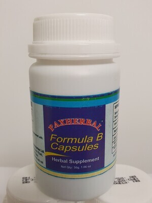 Paxherbal Formula B Capsules-Herbal Supplement-60 Capsule x 500mg-To manage high blood pressure.