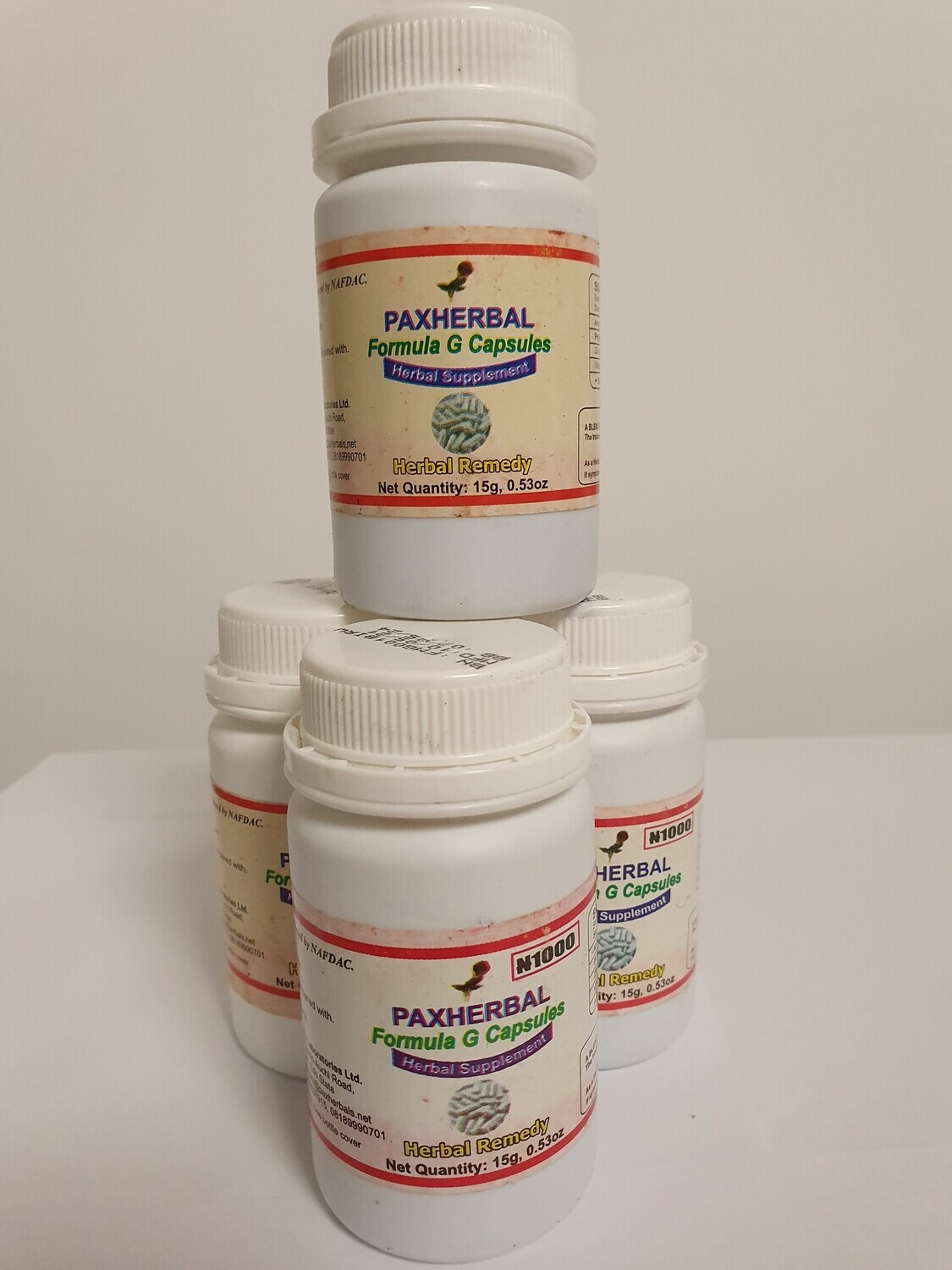 Paxherbal Formula G for low libido, fatigue and fevers