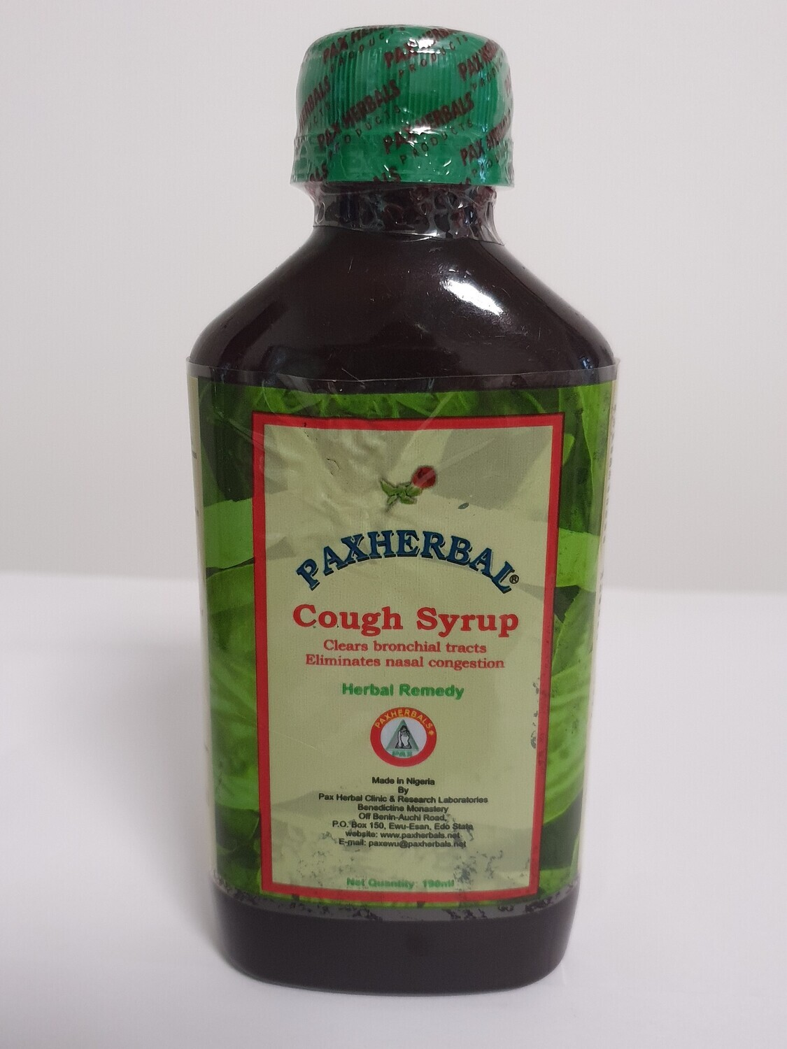 PAXHERBAL Cough Syrup Herbal Remedy-190ml