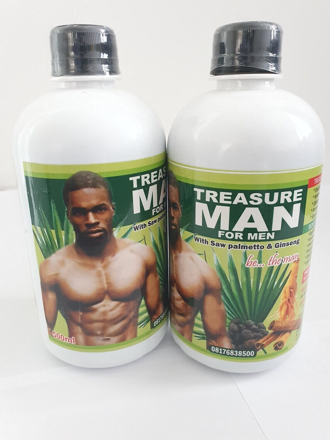 Treasure Man (For Men)  Formulated for Sexual Enhancement In Men-Enlarged Prostrate.