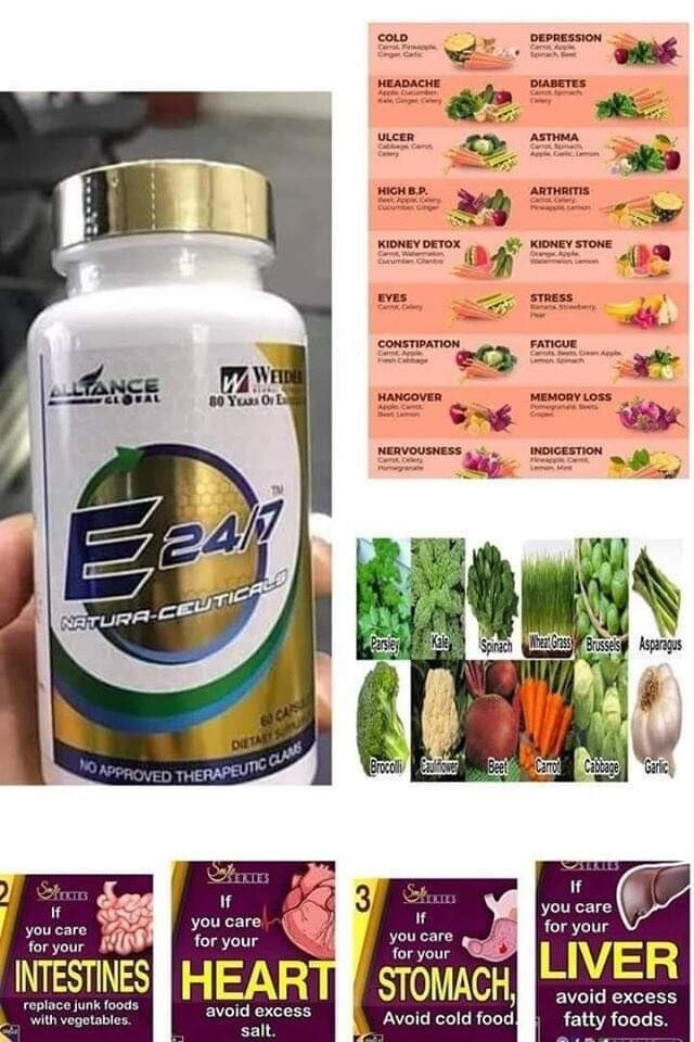 E24/7 NATURAL-CEUTICALS SUPPLEMENTS- 102 POWERFUL INGREDIENTS ENCHANCED.  51g x 60 caps.