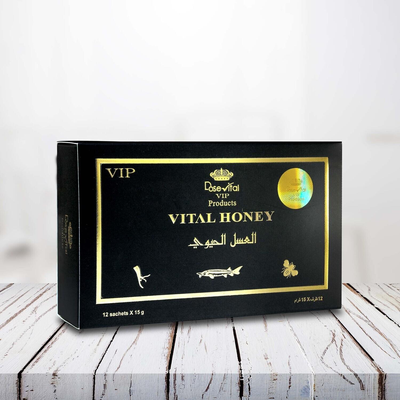 VITAL HONEY with Caviar & Tongkat Ali Powder- 12 Sachets x 15g.
