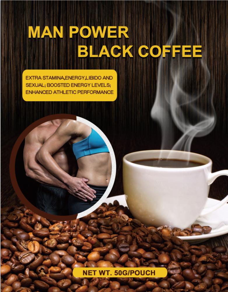 MAN POWER  BLACK COFFEE--14 sachets X 3.5g