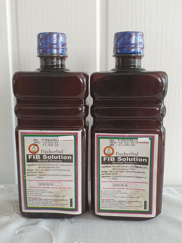 Paxherbal FIB Solution herbal fibroid formula x 500ml