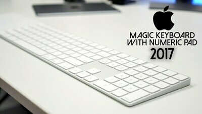 Apple Magic Keyboard with Numeric Keypad Wireless, US English - Silver
