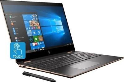 "HP Spectre x360 Diamond Cut Convertible Core™️ i7-10510U 1.8GHz 16GB512GB SSD 15.6"" (3840x2160) TOUCH SCREEN VGA NVIDIA MX330 2GB PEN NIGHT FALL BLACK"