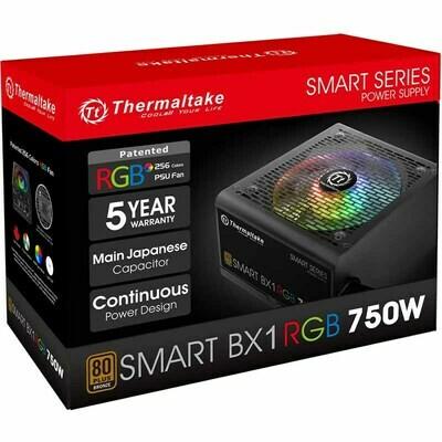 Power Supply Thermaltake Tough Power BX1 RGB 750 W Gold Smart Zero 256-Color RGB Fan Fully Modular