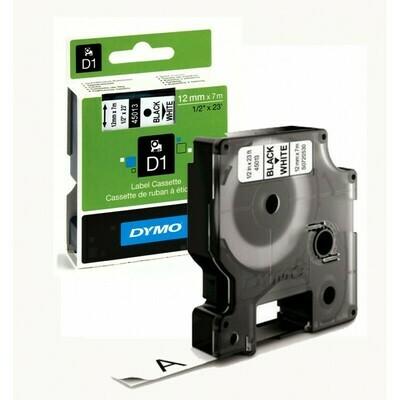 Dymo Cassette 45013 D1 12MM Black On White 7M