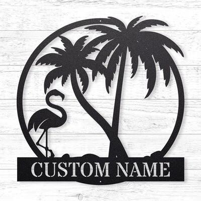 The Flamingo Custom Sign • 14 Gauge Steel
