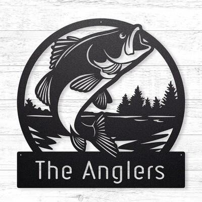 The Anglers Custom Sign • 14 Gauge Steel