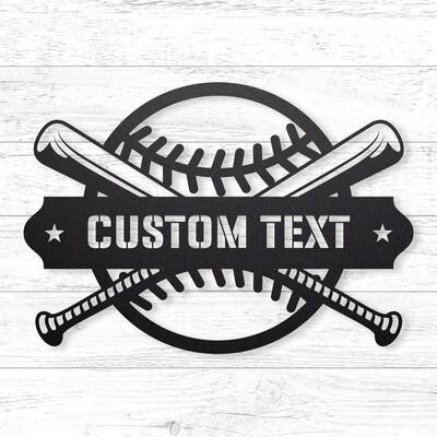 Baseball Custom Sign • 14 Gauge Steel