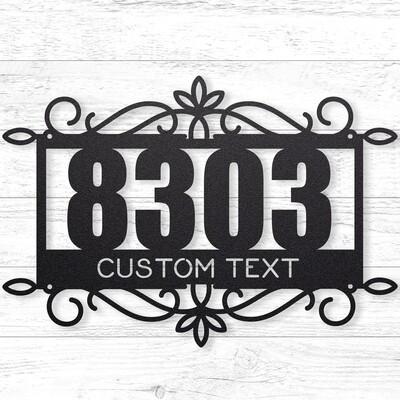 Address Sign 1 Custom Sign • 14 Gauge Steel