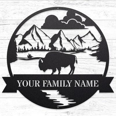 The Great Outdoors - Buffalo Custom Sign • 14 Gauge Steel