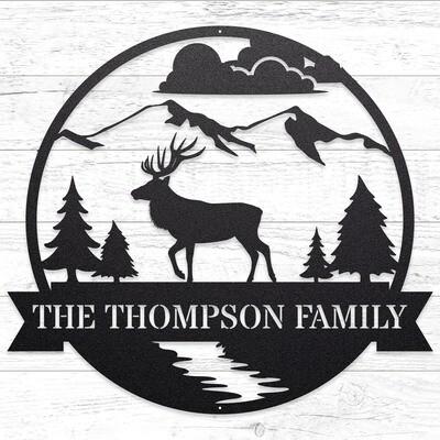 The Great Outdoors - Elk, Custom Sign • 14 Gauge Steel
