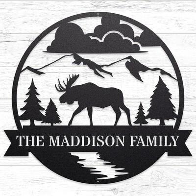 The Great Outdoors - Moose, Custom Sign • 14 Gauge Steel