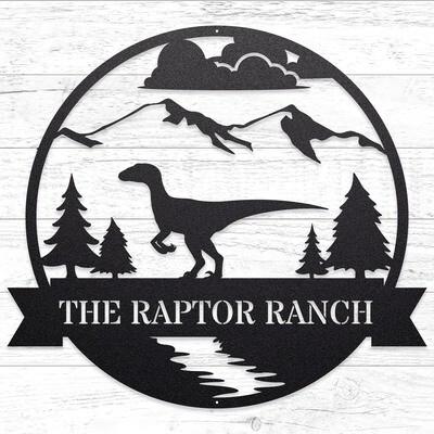 The Great Outdoors - Raptor Ranch, Custom Sign • 14 Gauge Steel