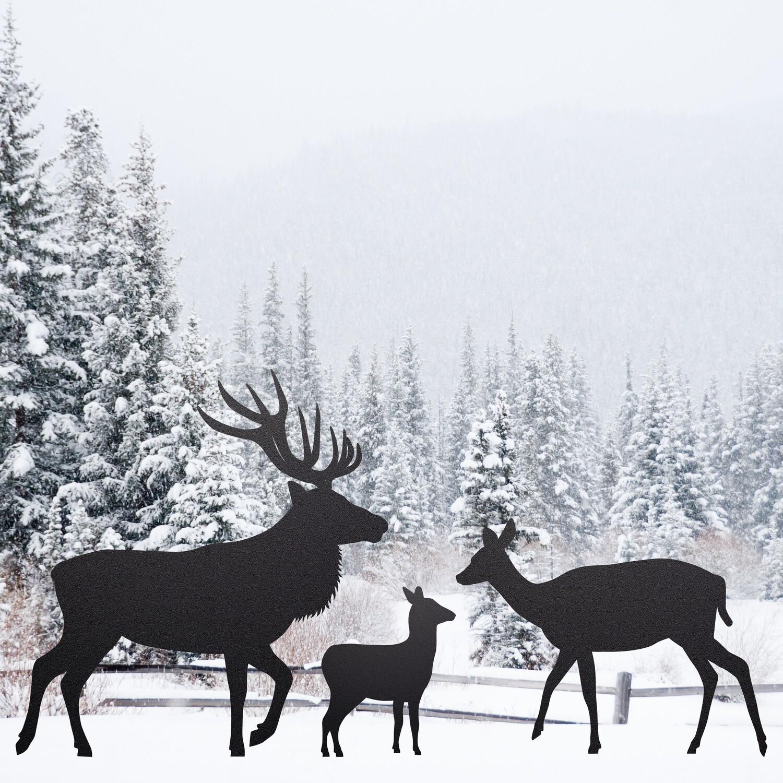Elk Family Silhouettes