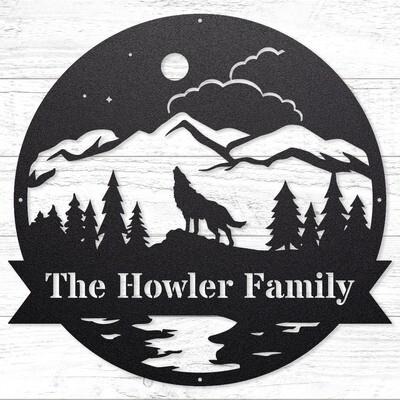 The Howler Custom Sign • 14 Gauge Steel